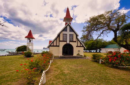 The beautiful Church Notre Dame Auxiliatrice at Mauritius Island, Indian Ocean, Africa