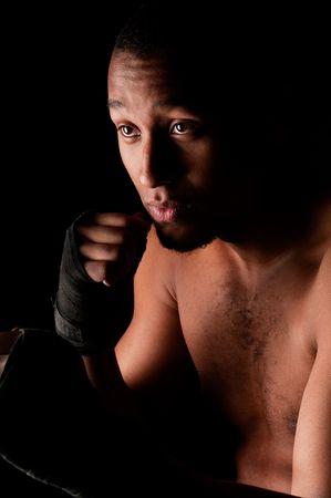 Jonge vechter mannelijke bedrijf guard