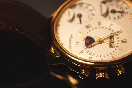 Golden colour luxury chronometer  macro