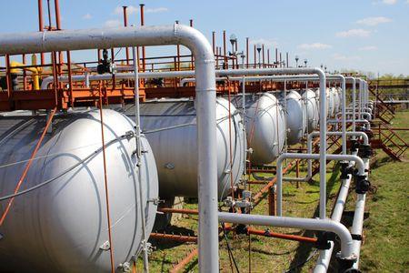 Gas storage tanks photo