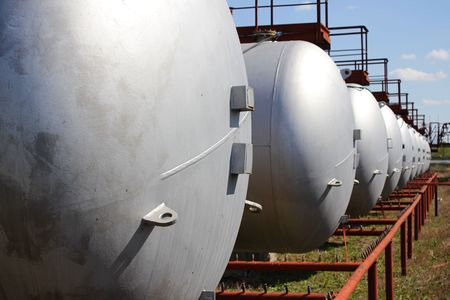 Gas storage tanks photo