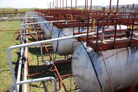 lng: LNG tanks Stock Photo