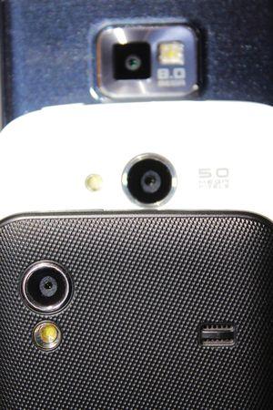 mega phone: Mobile Phone cameras Stock Photo