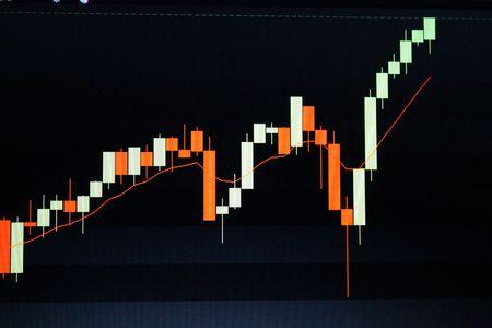 bullish: Bullish stock chart Stock Photo