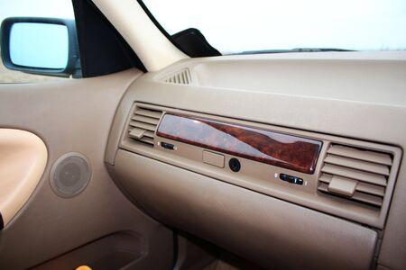 compartment: Car glove compartment with air deflectors