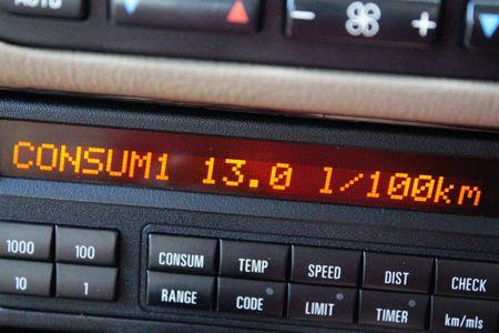 Average consumption on Car board computer display