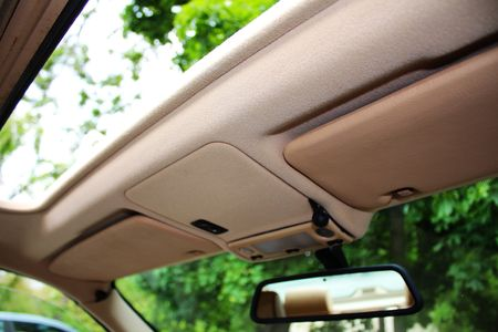 Opened Car roof