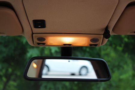 Car rearview mirror with lights Standard-Bild