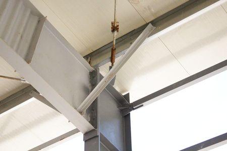 metallic: Metallic beams connection Stock Photo