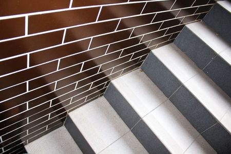 clinker tile: Clinker tiles and stairs