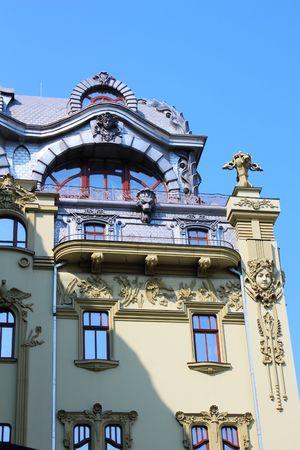 garret: Old baroque building facade