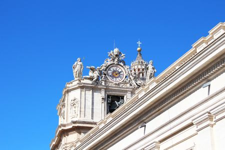 peter's: St. Peters Basilica Clock in the Vatican