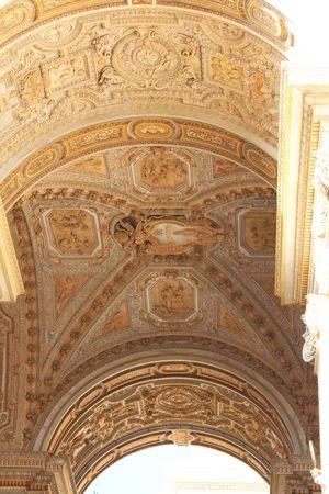 St. Peter's Basilica Stucco Ceiling Standard-Bild
