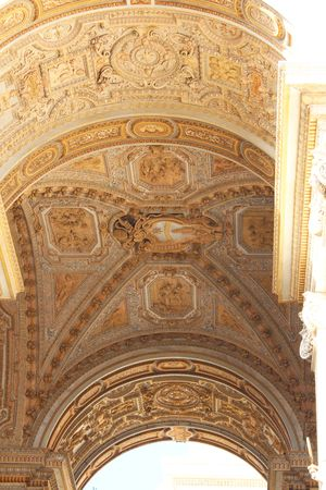 peter's: St. Peters Basilica Stucco Ceiling Stock Photo
