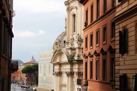 Roman facades Standard-Bild