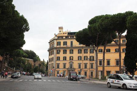 Roman street Standard-Bild