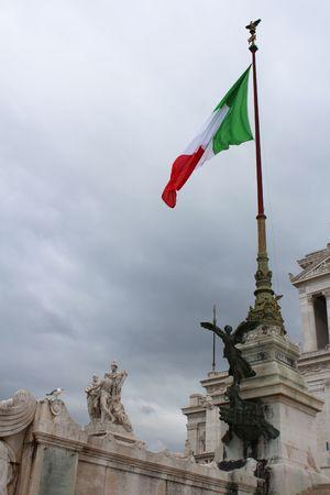 Waving Italian flag Editorial