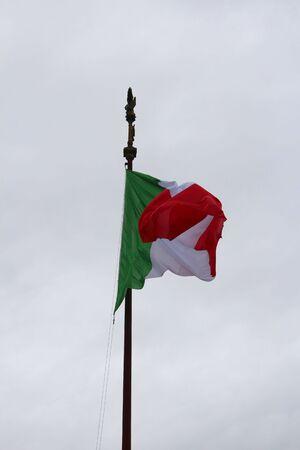 Waving Italian flag Standard-Bild