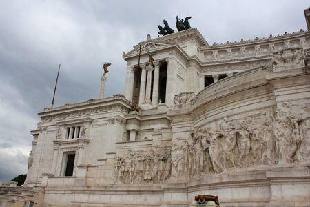 Italian monument Vittorio Emanuele II in Rome