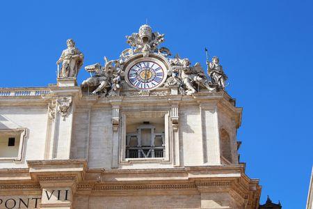 St. Peter's Basilica Clock in the Vatican