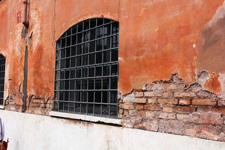 Prison window Standard-Bild