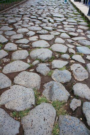 Ancient Roman cobblestones Standard-Bild