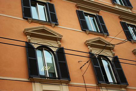 Typical italian building facade