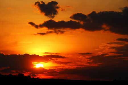 Scenic sunset Standard-Bild