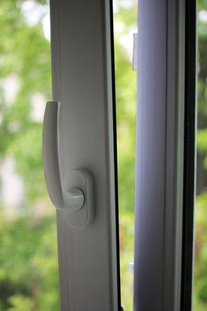 열린 창 핸들 스톡 콘텐츠