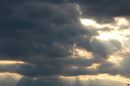 Sun behind the cloud 免版税图像