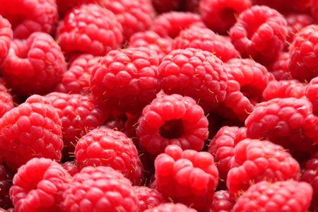 Macro of Raspberries 免版税图像