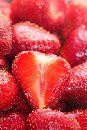 Macro of Strawberries Standard-Bild