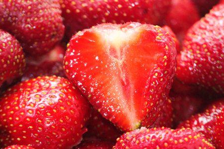 딸기의 근접 촬영