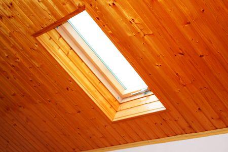 Roof skylight wooden window