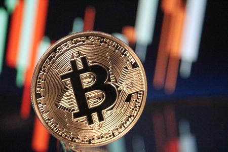Bitcoin bullish chart rally 免版税图像