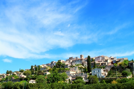 Summer sky over village of Biot on the french riviera