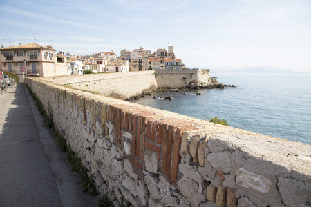 Old fortified town of Antibes on the french riviera.