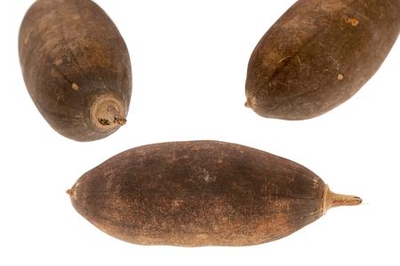 Baobab fruit on a white background