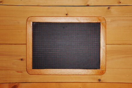 old chalkboard checkered wooden background photo