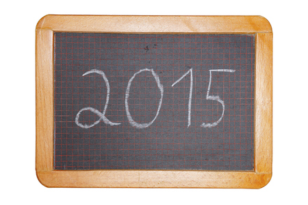 2015 on chalkboard cut out photo