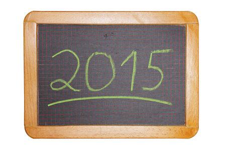 underline: 2015 green with underline on chalkboard cut out