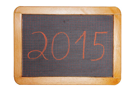 2015 red on chalkboard cut out photo