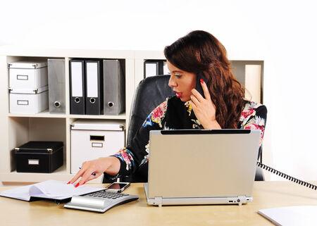 merchandiser: secretary is calling in the office