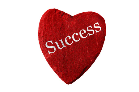 and is favorable: red heart with success Stock Photo