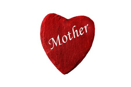 mothering: Mother?s Day red heart Stock Photo