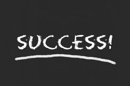 legislating: success script on black blackboard