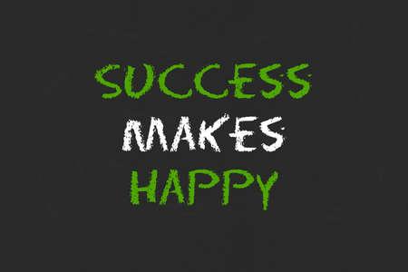 legislating: success to make happy with blackboard Stock Photo