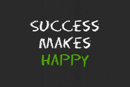 legislating: success to make happy script with black blackboard