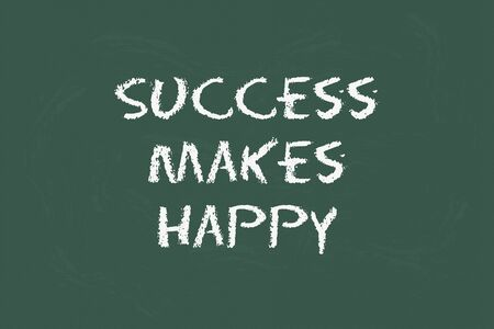 legislating: success to make happy with green blackboard