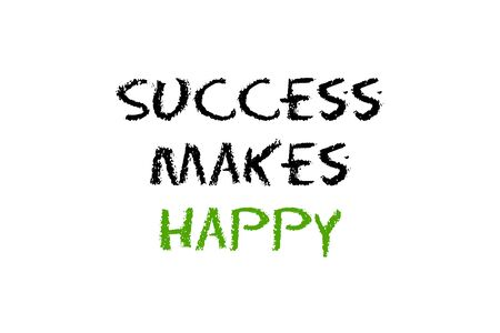 legislating: success to make happy script with white background